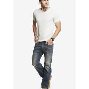 Express Kingston Thick Stitch Boot Cut Jeans 30X30